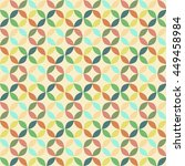 vector geometric circle pattern ... | Shutterstock .eps vector #449458984