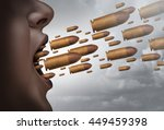 fight with words social issue... | Shutterstock . vector #449459398