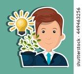 funding concept design  vector... | Shutterstock .eps vector #449463256