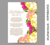 invitation with floral... | Shutterstock .eps vector #449486443