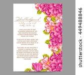 vintage delicate invitation...   Shutterstock .eps vector #449488846