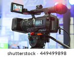 high definition cinema camera... | Shutterstock . vector #449499898