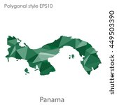 panama map in geometric... | Shutterstock .eps vector #449503390