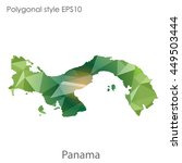 panama map in geometric... | Shutterstock .eps vector #449503444