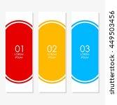 arrow banner template info...   Shutterstock .eps vector #449503456