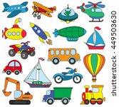 toy transport set in vector ... | Shutterstock .eps vector #449503630
