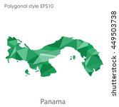 panama map in geometric... | Shutterstock .eps vector #449503738
