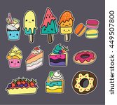 cute food cartoon | Shutterstock .eps vector #449507800