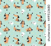 cute vector illustration with... | Shutterstock .eps vector #449513680