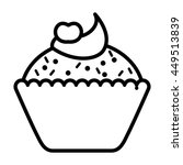 delicious cupcake isolated icon ... | Shutterstock .eps vector #449513839
