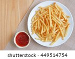 French Fries On White Plate...
