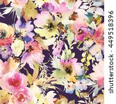seamless pattern with flowers... | Shutterstock . vector #449518396