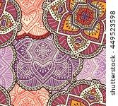 seamless pattern. vintage... | Shutterstock . vector #449523598
