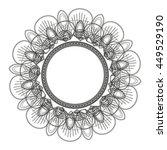 flat design round petal like... | Shutterstock .eps vector #449529190