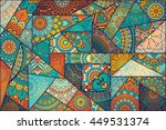 seamless pattern. vintage... | Shutterstock . vector #449531374
