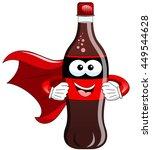 masked cartoon bottle superhero ... | Shutterstock .eps vector #449544628