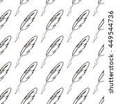 vector seamless feather pattern | Shutterstock .eps vector #449544736