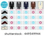 color mix and match guide for... | Shutterstock .eps vector #449549944