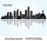 south america skyline. vector... | Shutterstock .eps vector #449553046