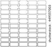 fifty rectangle frames  set 1  | Shutterstock .eps vector #449557003