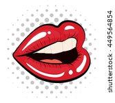 pop art concept represented by... | Shutterstock .eps vector #449564854