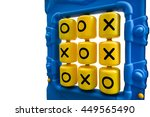ox puzzle game on playground... | Shutterstock . vector #449565490
