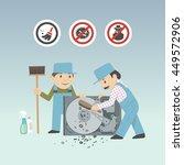 service guys in working dress...   Shutterstock .eps vector #449572906