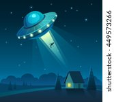 vector illustration of ufo in... | Shutterstock .eps vector #449573266