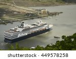 Large Cruise Ship Exiting Pedr...