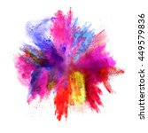 explosion of colored powder ... | Shutterstock . vector #449579836
