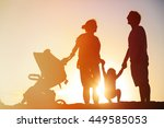 happy family with little child... | Shutterstock . vector #449585053