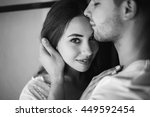 young couple in the room | Shutterstock . vector #449592454