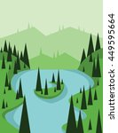 abstract landscape design with... | Shutterstock .eps vector #449595664