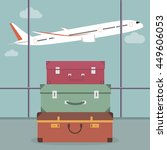 travel luggage in the airport.  | Shutterstock . vector #449606053