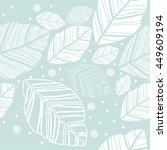 seamless pattern of leaves...   Shutterstock .eps vector #449609194