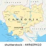 cambodia political map with... | Shutterstock .eps vector #449609410