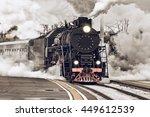 Retro Steam Train Departs From...