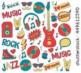 music doodle vector set | Shutterstock .eps vector #449612590