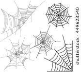 vector set of spider web... | Shutterstock .eps vector #449623540