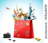 illustration of shopping bag... | Shutterstock .eps vector #449628490