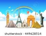 illustration of world famous... | Shutterstock .eps vector #449628514
