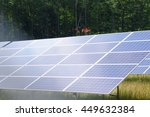 Small photo of solar panels aglow in the sunlight