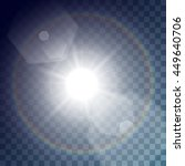 vector white sun with light... | Shutterstock .eps vector #449640706