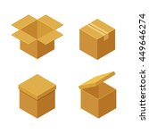 boxes and packaging icon set.... | Shutterstock . vector #449646274