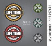 lifetime warranty vector icon | Shutterstock .eps vector #449647684