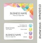 modern graphic business card... | Shutterstock .eps vector #449650513