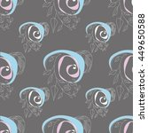 abstract vector floral ornament.... | Shutterstock .eps vector #449650588