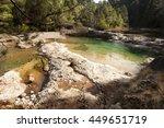 crossing ulldemo river to penya ... | Shutterstock . vector #449651719