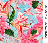 a seamless background pattern... | Shutterstock . vector #449656204