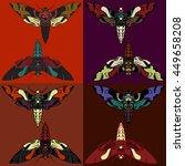 butterflies   vector pattern. ... | Shutterstock .eps vector #449658208
